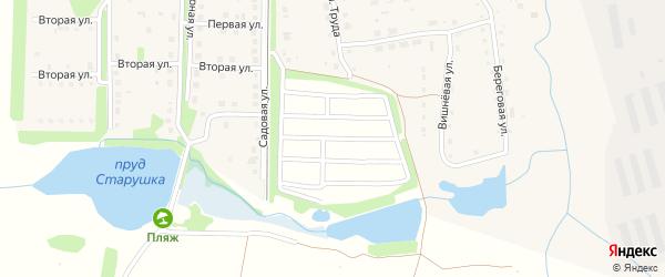 СНТ Дружба на карте Долгодеревенского села с номерами домов