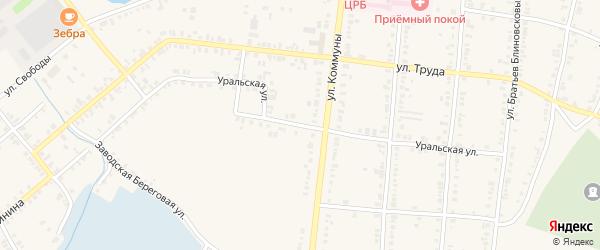 Уральская улица на карте Касли с номерами домов
