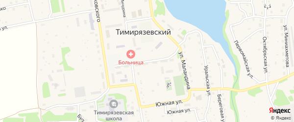 Улица Тимирязева на карте Тимирязевского поселка с номерами домов