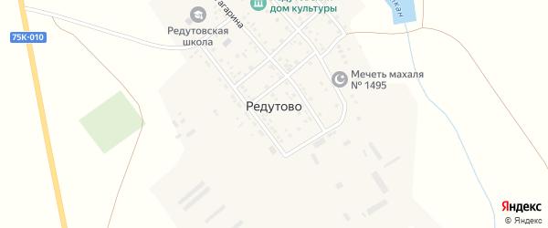 Набережная улица на карте поселка Редутово с номерами домов