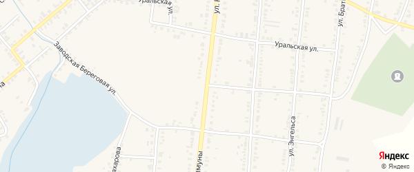 Улица Коммуны на карте Касли с номерами домов