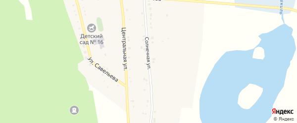 Солнечная улица на карте поселка Бишкиля с номерами домов