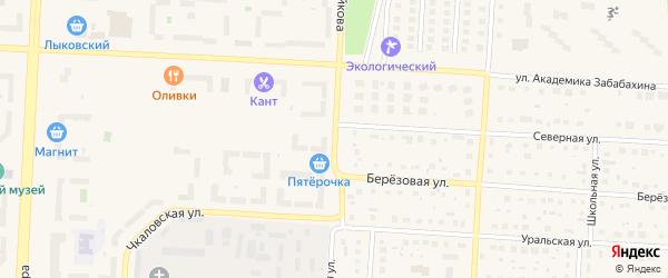 Еловая улица на карте Снежинска с номерами домов