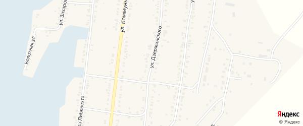 Улица Дзержинского на карте Касли с номерами домов