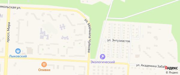 Улица Маршала Чуйкова на карте Снежинска с номерами домов