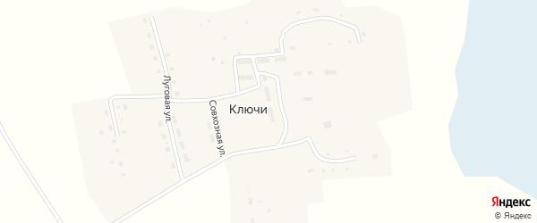 Совхозная улица на карте поселка Ключи с номерами домов