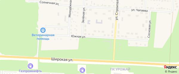 Южная улица на карте Снежинска с номерами домов