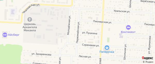 Первомайская улица на карте Снежинска с номерами домов