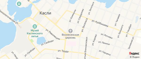 СТ Заозерный на карте Касли с номерами домов
