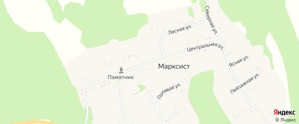 Центральная улица на карте деревни Марксиста с номерами домов
