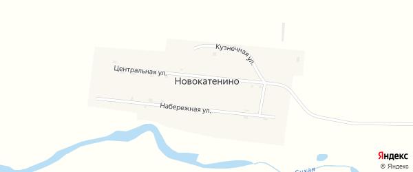 Центральная улица на карте поселка Новокатенино с номерами домов