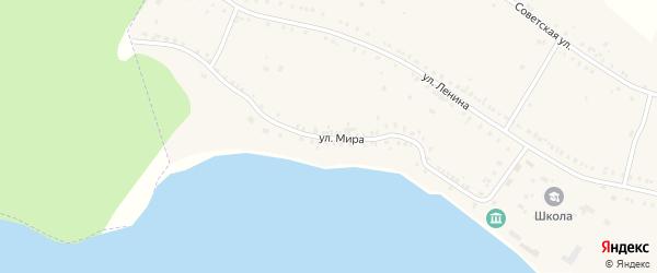 Улица Мира на карте поселка Воздвиженки с номерами домов