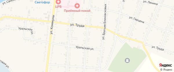 Улица Энгельса на карте Касли с номерами домов