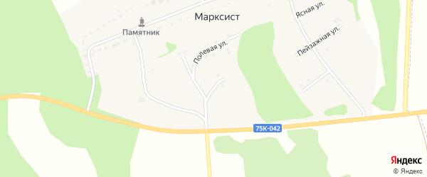 Дружная улица на карте деревни Марксиста с номерами домов