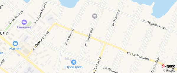 Улица Свердлова на карте Касли с номерами домов