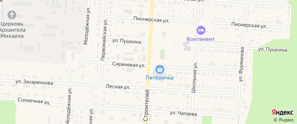 Улица Строителей на карте Снежинска с номерами домов