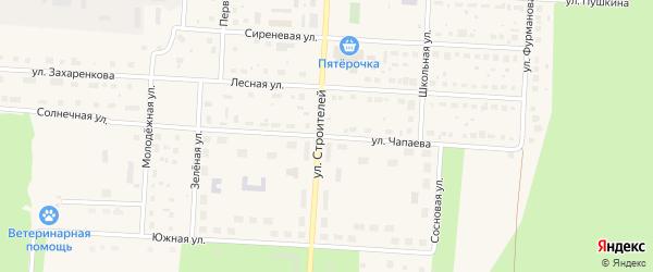 Улица Чапаева на карте Снежинска с номерами домов