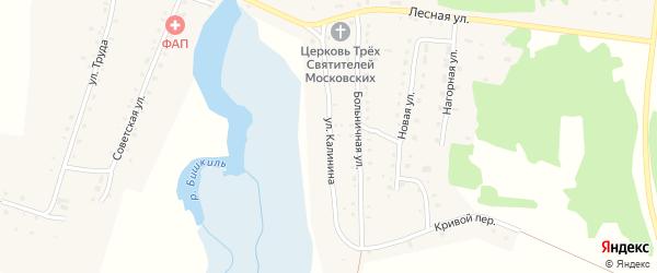 Улица Калинина на карте села Медведево с номерами домов