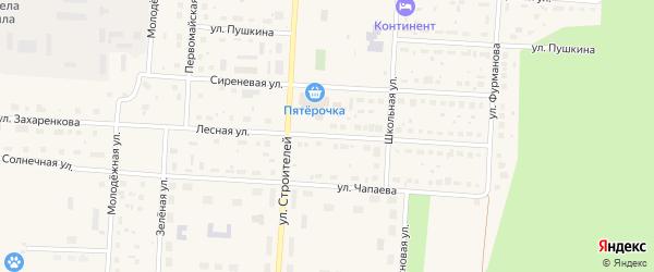 Лесная улица на карте Снежинска с номерами домов