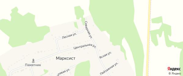 Северная улица на карте деревни Марксиста с номерами домов