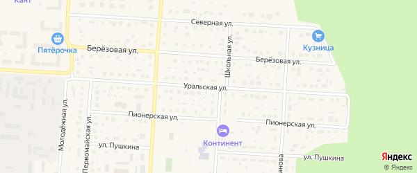 Уральская улица на карте Снежинска с номерами домов