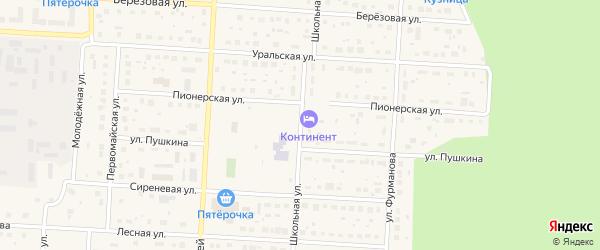 Школьная улица на карте Снежинска с номерами домов