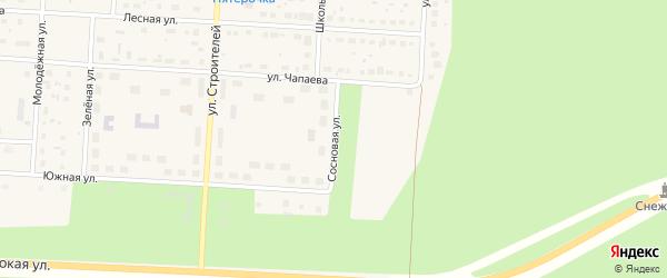Сосновая улица на карте Снежинска с номерами домов