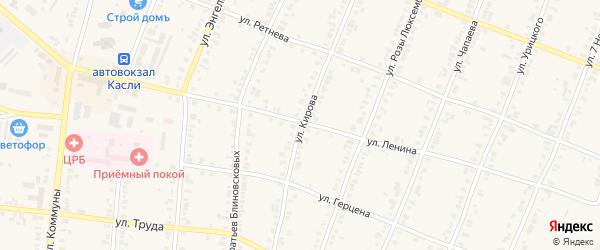Улица Кирова на карте железнодорожной станции Маук с номерами домов