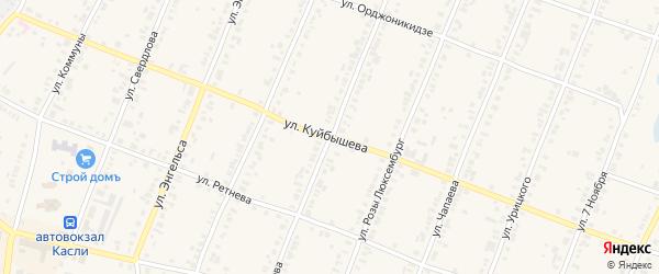 Улица Куйбышева на карте Касли с номерами домов