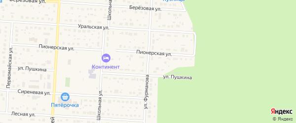 Улица Фурманова на карте Снежинска с номерами домов