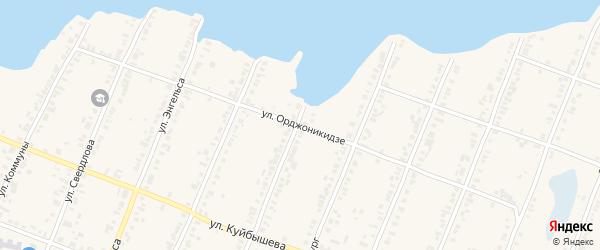 Улица Орджоникидзе на карте Касли с номерами домов