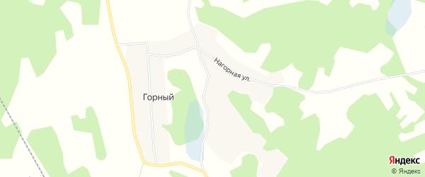 Карта Горного поселка в Челябинской области с улицами и номерами домов