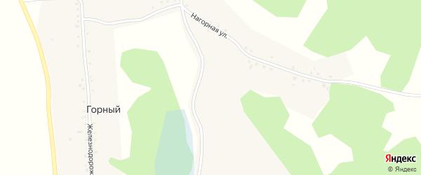 Железнодорожная улица на карте Горного поселка с номерами домов