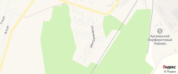 Земляничная улица на карте Новогорного поселка с номерами домов