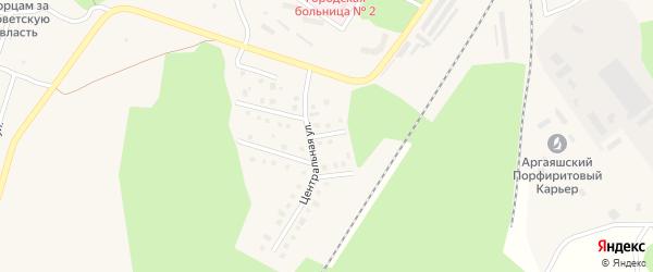 Солнечная улица на карте Новогорного поселка с номерами домов