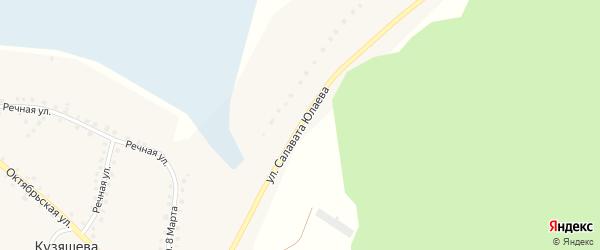 Улица Салавата Юлаева на карте деревни Кузяшева с номерами домов