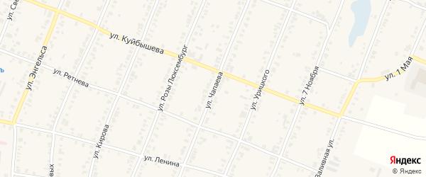 Улица Чапаева на карте Касли с номерами домов
