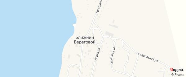 Жемчужная улица на карте Ближнего Берегового поселка с номерами домов