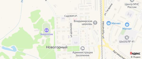 Улица Энергетиков на карте Новогорного поселка с номерами домов