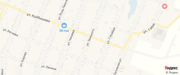 Улица Урицкого на карте Касли с номерами домов