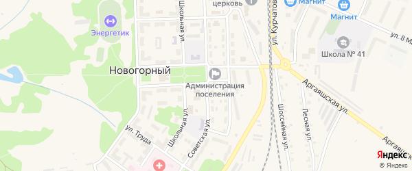 Советская улица на карте Новогорного поселка с номерами домов