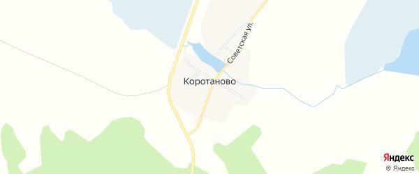 Карта деревни Коротаново в Челябинской области с улицами и номерами домов