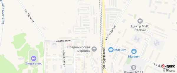 Озерная улица на карте Новогорного поселка с номерами домов