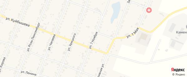 Улица 7 Ноября на карте Касли с номерами домов