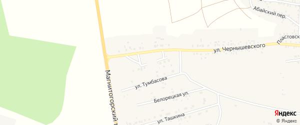 Прямая улица на карте Пласта с номерами домов