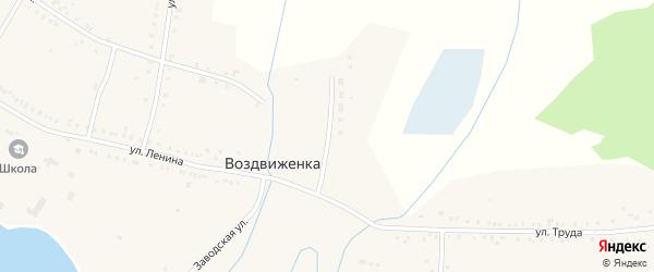 Октябрьская улица на карте поселка Воздвиженки с номерами домов