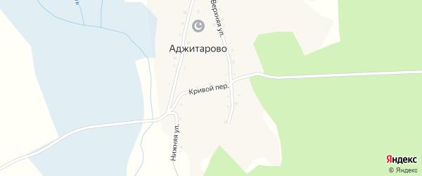 Кривой переулок на карте деревни Аджитарово с номерами домов