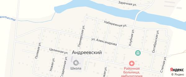 Улица Гагарина на карте Андреевского поселка с номерами домов
