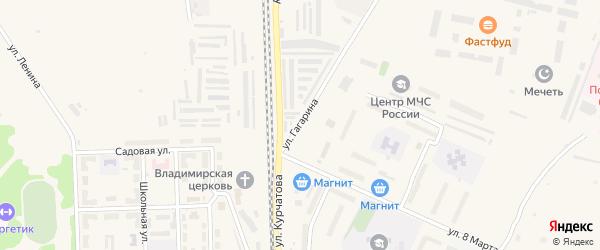 Улица Гагарина на карте Новогорного поселка с номерами домов