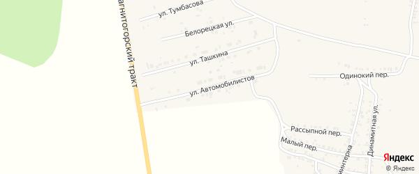 Улица Автомобилистов на карте Пласта с номерами домов